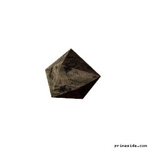 Small low-poly stone (d_rock01) [3930] on the light background