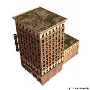 Multi-storey residential building square shape (TaftBldg1_LAwN) [5768] on the light background