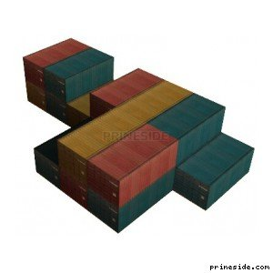 Many colorful freight containers (vgsfrates12) [8341] on the light background