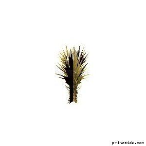 Маленький куст (sand_plant02) [861] на светлом фоне