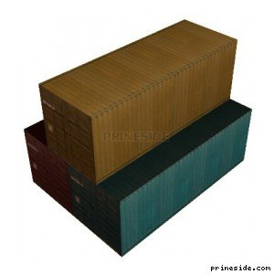 Three stacked container (vgsEfrght04) [8886] on the light background