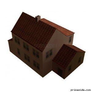 Большой двухэтажный дом (preshoos01_SFN03) [9273] на светлом фоне