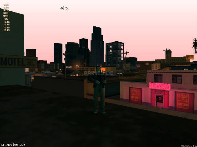 GTA San Andreas weather ID 1384 at 22 hours