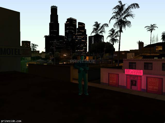 GTA San Andreas weather ID 412 at 22 hours