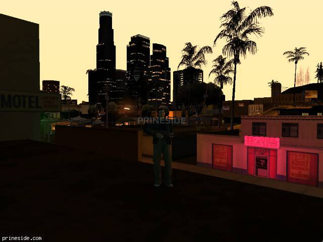 GTA San Andreas weather ID -1636 at 23 hours