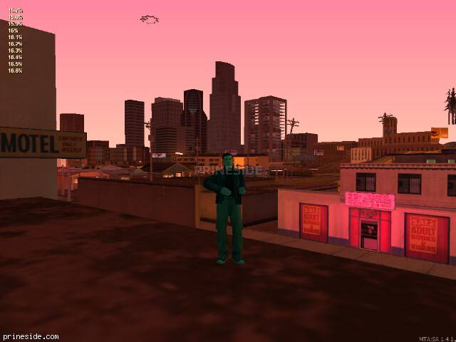 GTA San Andreas weather ID 1702 at 22 hours
