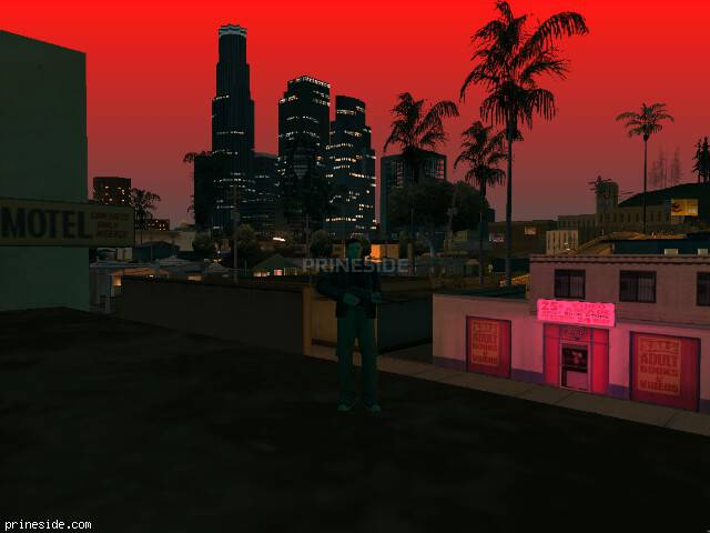 GTA San Andreas weather ID -1083 at 22 hours