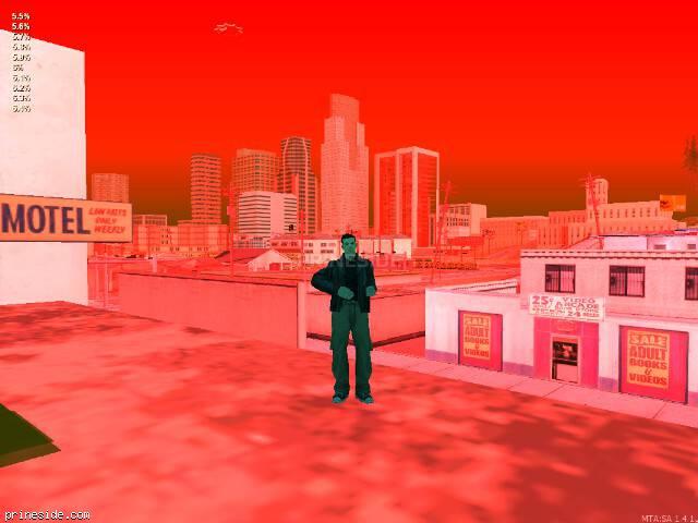 Просмотр погоды GTA San Andreas с ID 64 в 20 часов